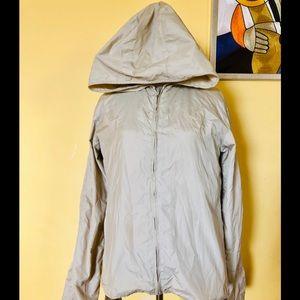 DKNY Wind Breaker hoodie Jacket Tan Size S